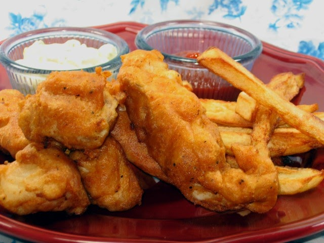 Coleen's Recipes: BEER BATTERED HALIBUT with (TWICE FRIED) FRENCH FRIES