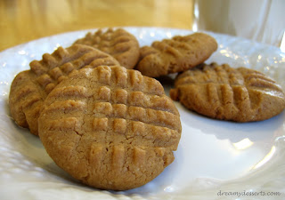 peanut butter cookies and