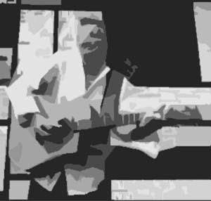 Kytara se struhadlem na brambory.