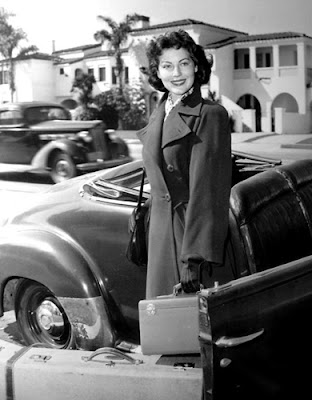 Ava Gardner takes a trip.