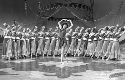 Yvonne DeCarlo with a chorus line. Pretty authentic.