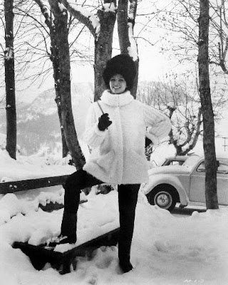 Claudia Cardinale makes winter look fun.