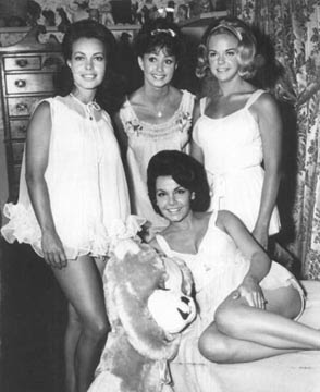 Susan (Left) with Annette Funicello in PJs