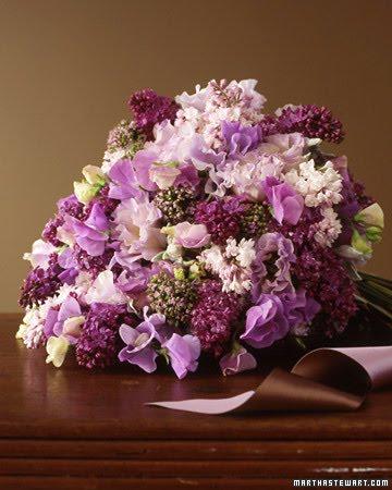 Lilac bouquet courtesy of Martha Stewart Weddings
