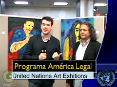 VEJATV.COM na United Nations Art Exhibition.