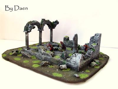 makiety do gier bitewnych ruiny świątyni