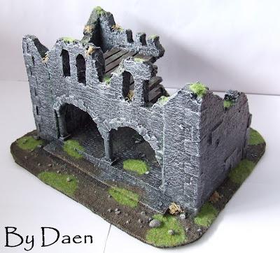 makieta ruin budynku lotr