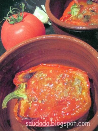 papryka z pomidorami i anchois anchovies