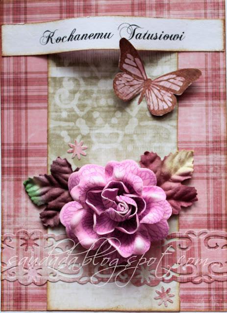 kartka na urodziny scrapbooking ładna