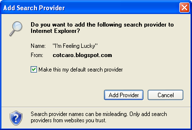 internet explorer add search provider window