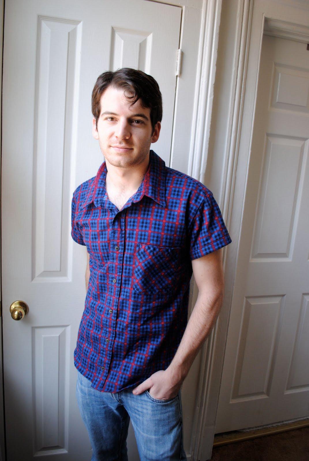 How to make a long sleeve dress shirt into a short sleeve for Make a dress shirt