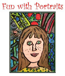 """Fun with Portraits"" Art  Lesson Plans. 24-page PDF Booklet.  $5"