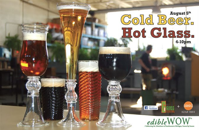 The Glass Academy glassblowing and beer tasting event