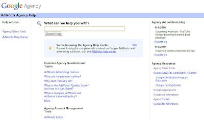 Google Agency Help