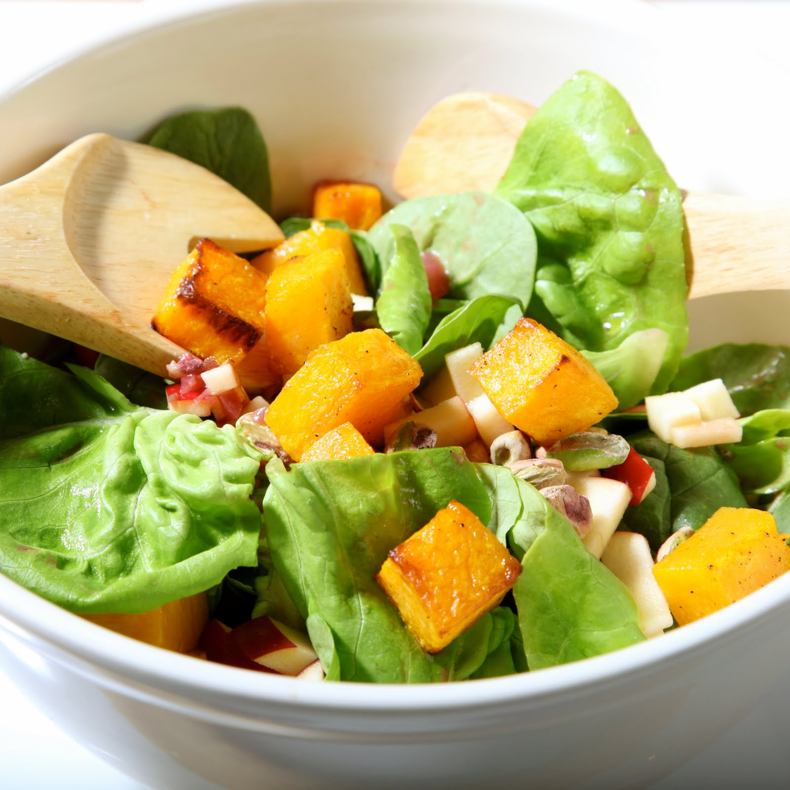 The 10 cent Diet: Roasted Squash Salad with Pomegranate ...