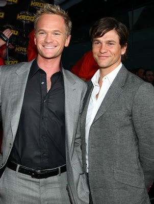 Above: Neil Patrick Harris and David Burtka.