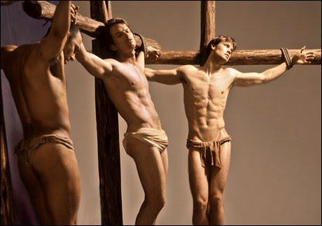 was jesus crucified naked