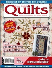 Issue 126 (Nov 2008) Down Under Quilts