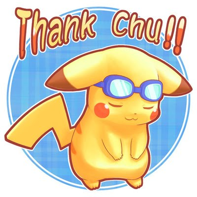 Image result for THANK YOU BY PIKACHU