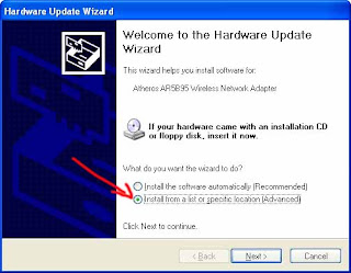 update wizard