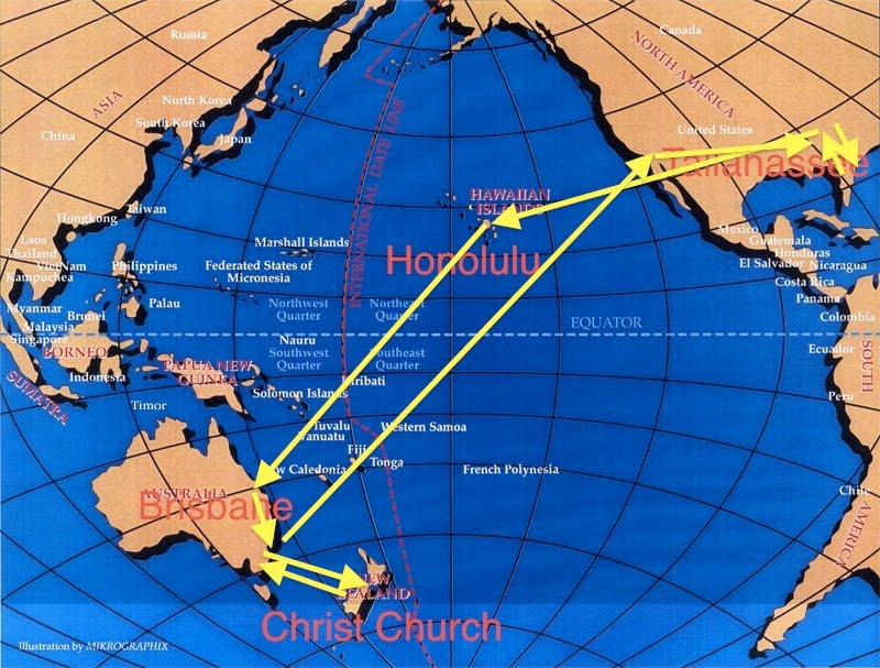 Florida coal cracker chronicles tuesday morning we fly to hawaii tuesday morning we fly to hawaii australia new zealand first time to cross equator gumiabroncs Images