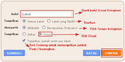 Tutorial Cara Membuat Label Cloud