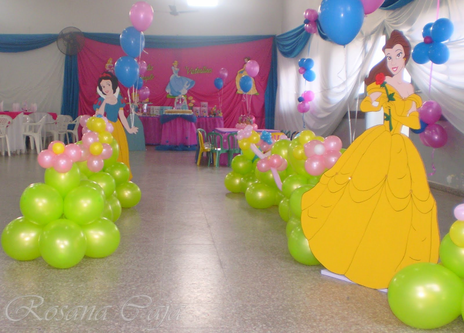 De Cumpleanos De Princesas De Disney and post Decoracion Del Salon De ...
