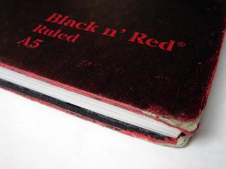 black n red scruffy edges