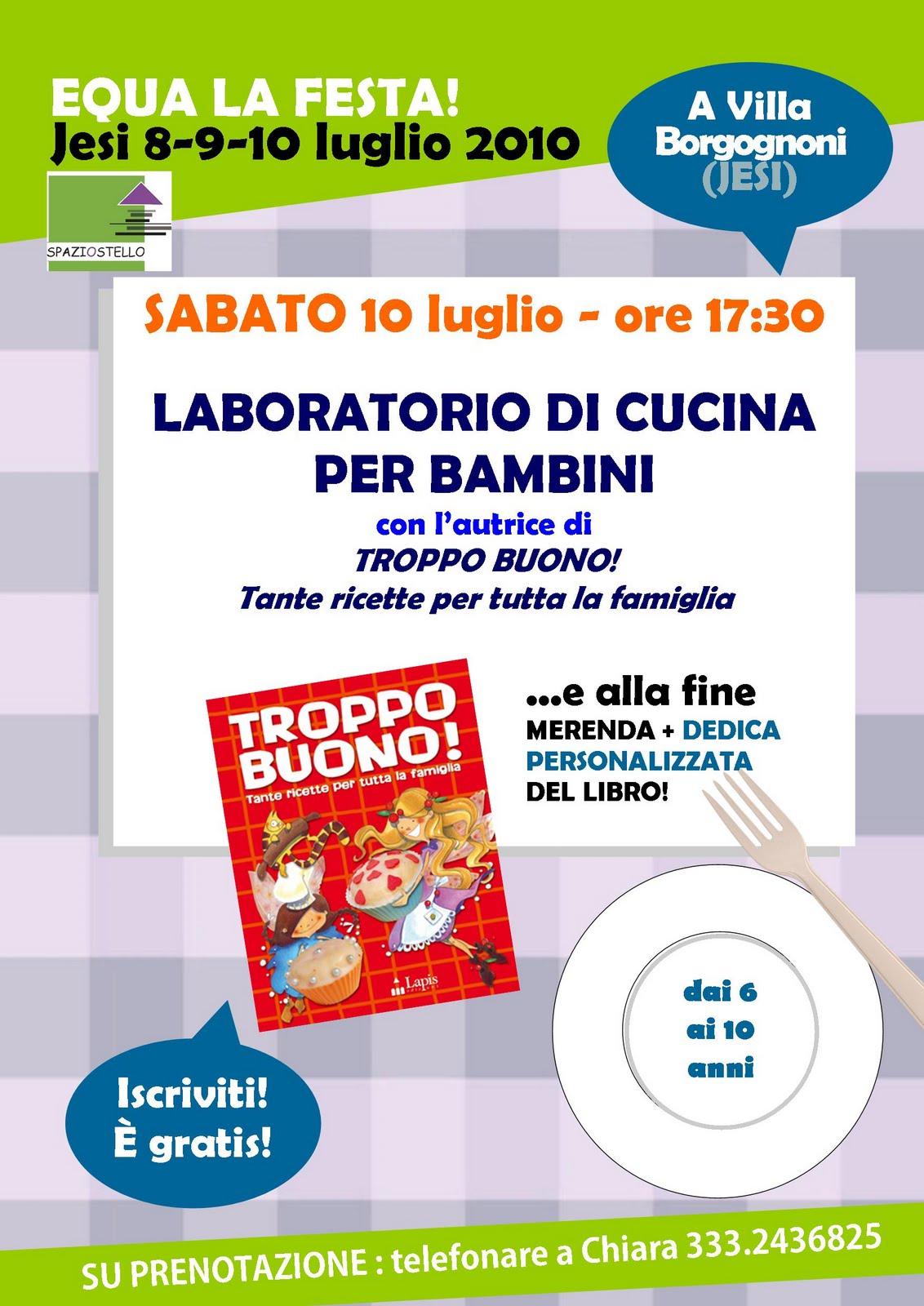 SpaziOstello: Laboratorio Di Cucina Per Bambini All'interno Di Equa La  #95C803 1132 1600 Cucina Etnica Per Bambini