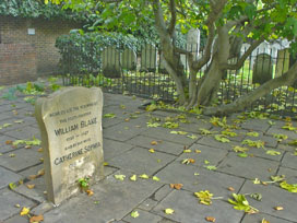 William Blake's tombstone