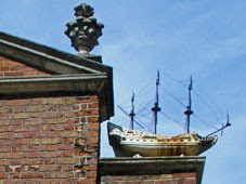 17th century warship on Trinity Almshouses