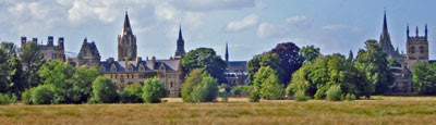 Oxford from Christ Church Meadow