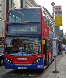 16... to... Cricklewood Bus Garage