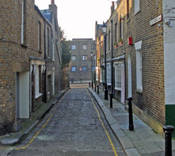 Little Green Street, from the east