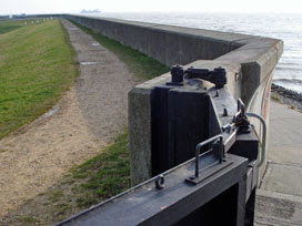 Canvey sea wall, Thorney Bay