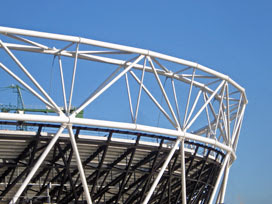 Olympic Stadium, upper tier