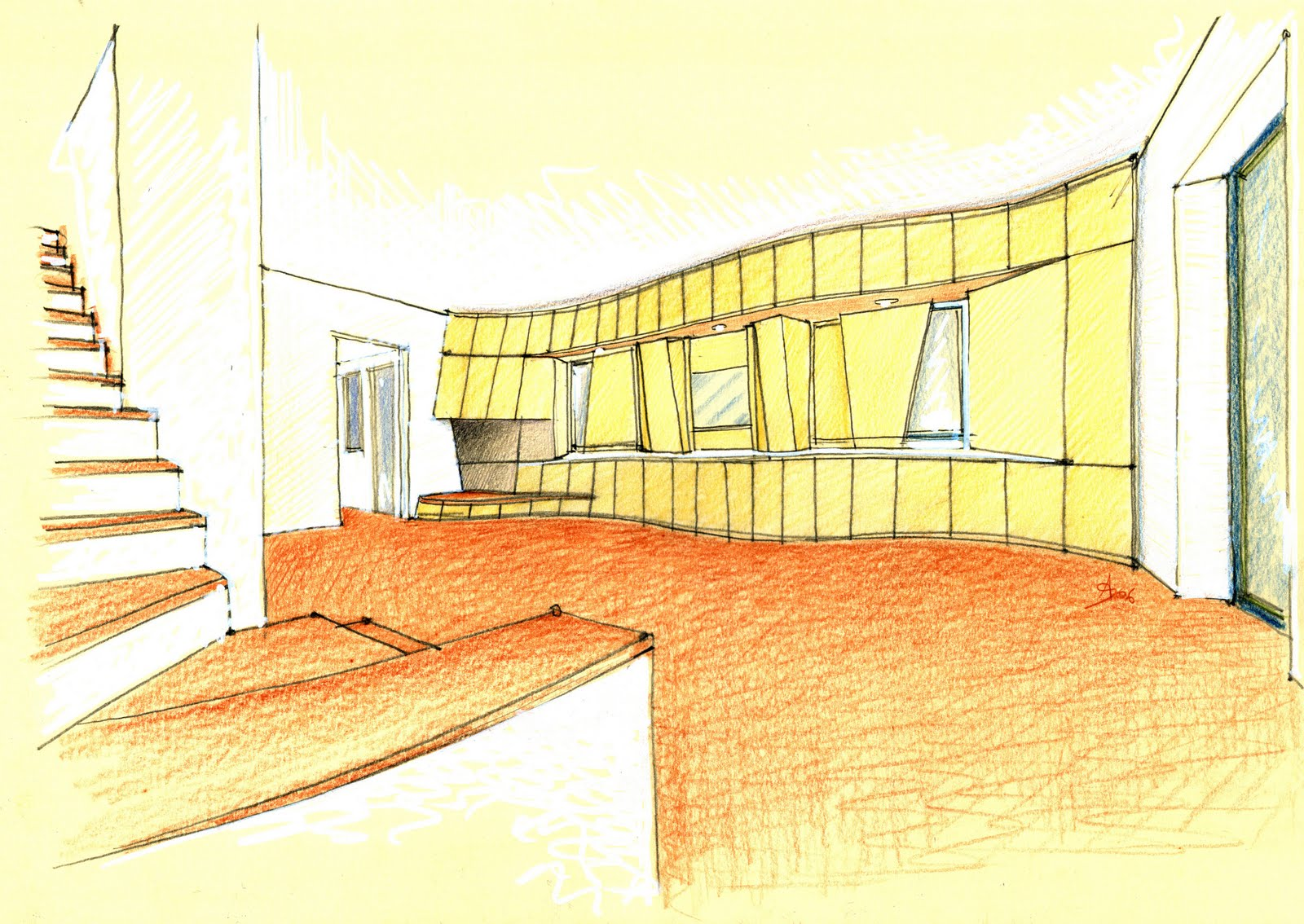 Vent 39 anni di disegni dell 39 arch antonio saporito agosto 2010 for Disegni di interni