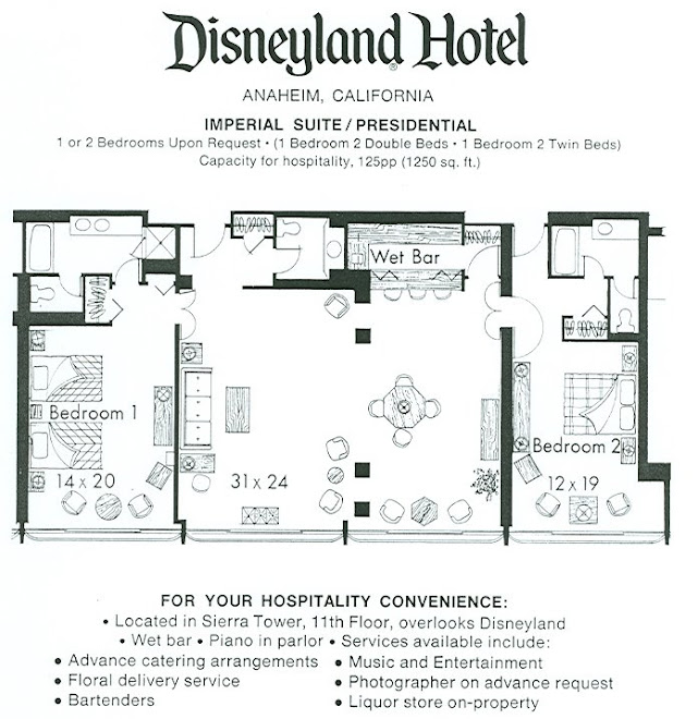 The Original Disneyland Hotel Rare View Inside The