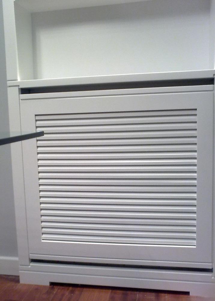 Cubreradiador y estanter a lacados en blanco muebles for Instaladores aire acondicionado zaragoza