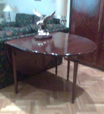 Mesas de sal n de madera plegables muebles cansado - Mesas salon plegables ...