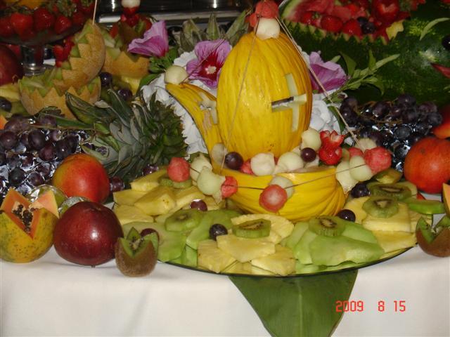 Decoração com Fruta