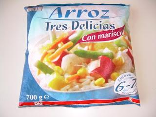 Arroz tres delicias con marisco DIA | El blog de las marcas blancas (www.blog-marcas-blancas.blogspot.com)
