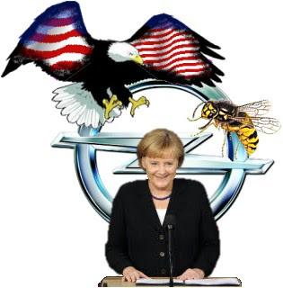 Eagle versus Wespe Erika