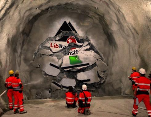 Tripolis-Untergrund: Durchstich am Botschafts-Tunnel