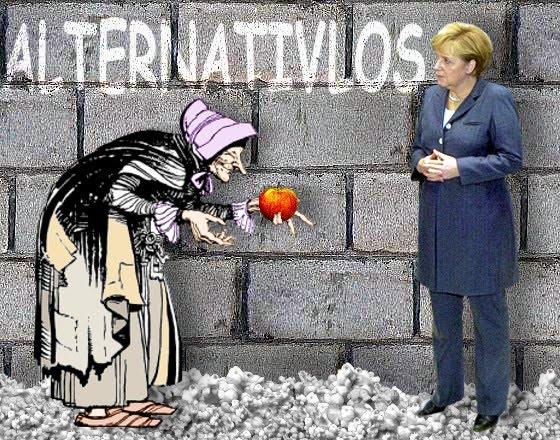 Merkelwittchen in alternavisloser Situation