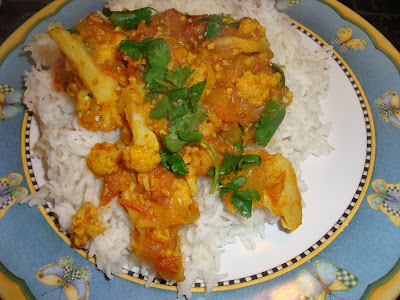 Cauli Flower Tomato Curry Indian Vegetarian Cooking Easy