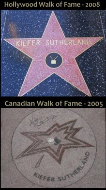 Kiefer Sutherland&#39;s Walk Of Fame Honors