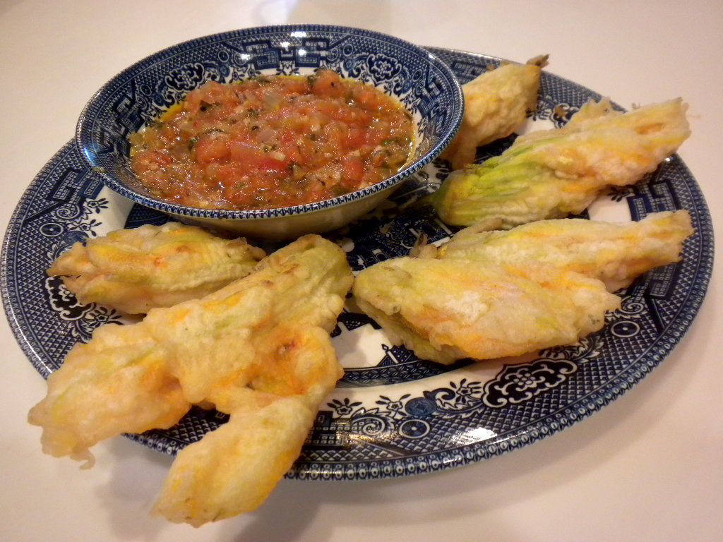 Life is Delicious: Tempura Fried Squash Blossoms Stuffed ...