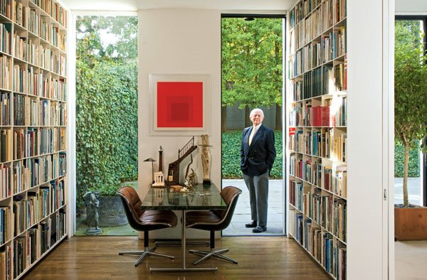 built ins are the ultimate bookcase luxury and my favorites are designed by architect hugh newell jacobsen jacobsen shown above builds floor to ceiling - Crate Bookshelves