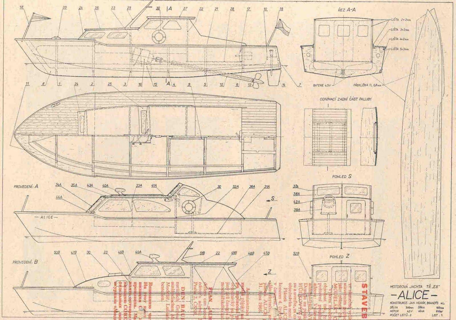 Quinze marins sur le bahut du mort...: Plan de la Vedette Alice